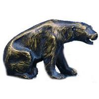 Figur Braun Bär Raubtier Ehrung Trophäe