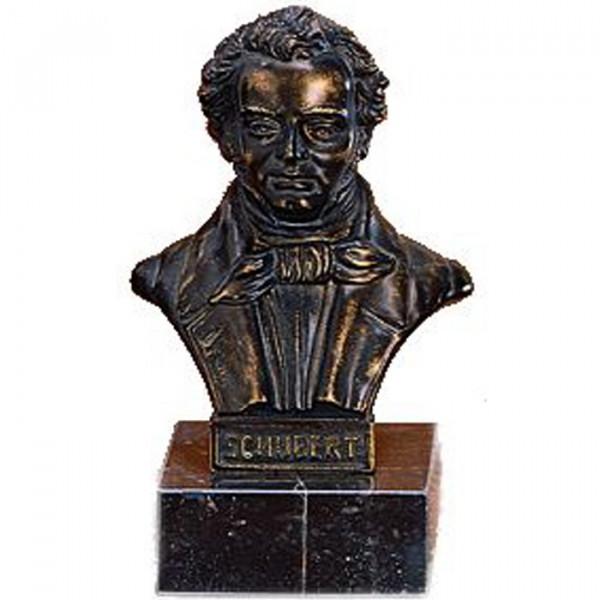 Edle Figur vom Komponist Schubert in Bronzeoptik