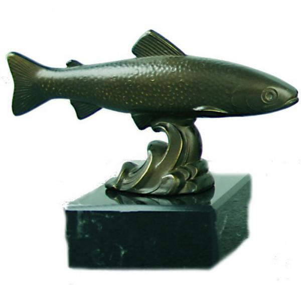 Metall Figur Angelverein Forelle