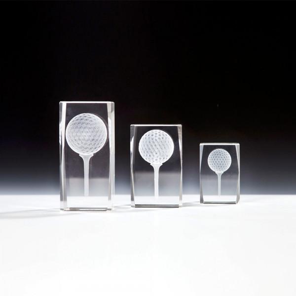 "3D Kristallblock ""Golf"""