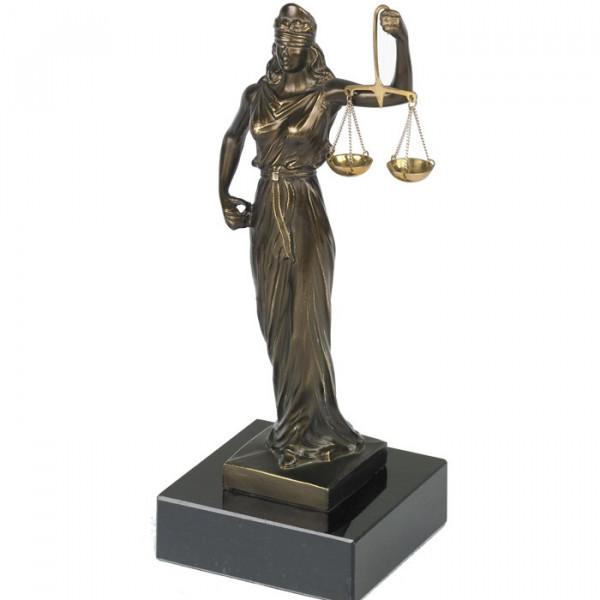 Aufwendige Figur Justitia Gerechtigkeit Altes Römisches Reich