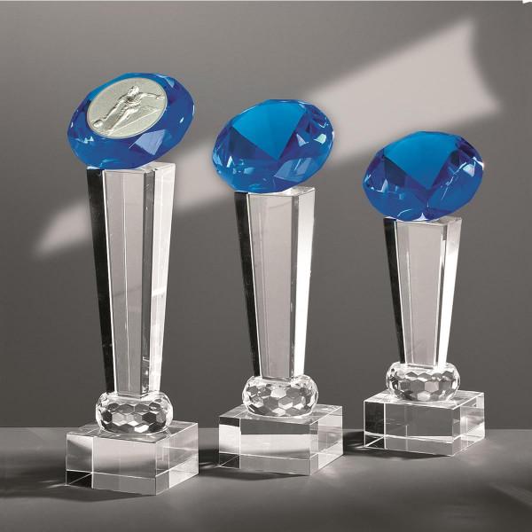 """Kristallglas Säule Diamant """"BLUE"""""""
