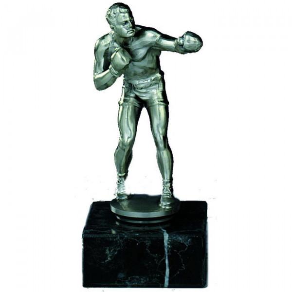 Sieger Figur Boxen Herren Silberoptik Sportpokal Trophy